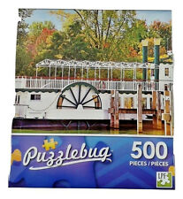 500 Pcs Puzzlebug Puzzles Old Fashioned Paddle Steam Boat Jigsaw Puzzle.