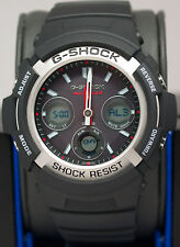 New Casio G-Shock AWGM100-1A Black Multi Band Atomic Solar 200M Men's Watch