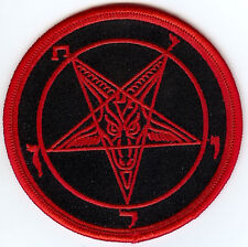 Baphomet Sigil Patch Red Satan Occult Pagan Witch Heavy Metal Goat The Devil