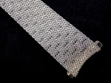 Vintage NOS Kreisler Stainless Steel mesh bracelet watch band 17.5mm EXTRA LONG