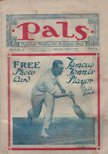 VINTAGE 1924 PALS BOY MAGAZINE FAMOUS TENNIS PLAYER COVER