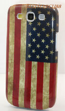 FOR SAMSUNG GALAXY i9300 S3 S III VINTAGE LOOKING US AMERICA AMERICAN FLAG CASE