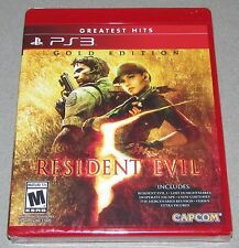 Resident Evil 5 Gold Edition for Playstation 3 Brand New! Factory Sealed!