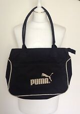 VTG WOMENS RETRO 90'S BLACK PUMA RUCKSACK HANDBAG FESTIVAL BUM BAG VGC