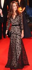 New Temperley London Black Lace Amoret Gown Dress Aso USA 4, Uk 8 Rare!!