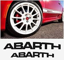 FIAT ABARTH HI - TEMP PREMIUM BRAKE CALIPER DECALS STICKERS CAST VINYL 500 500C