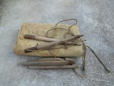 WW1 Original and Rare French tent set Model 1888 Dated 1930