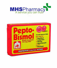 Pepto-bismol tablets 87.6mg/5ml 12 pack