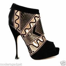 SUPER GORGEOUS!!! BRIAN ATWOOD HIGH HEEL CHAIN&PYTHON BOOTIES EU 40 US 9.5