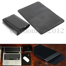 "For Dell XPS 13 13.3"" Case Laptop PU Leather Notebook Sleeve Cover + Adapter Bag"