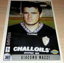 CARD CALCIATORI MUNDI CRONO 2000 SAVOIA MAZZI CALCIO FOOTBALL ALBUM