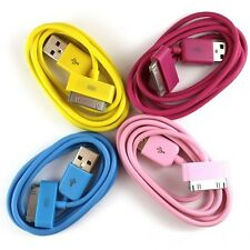 4pcs Lot Coloured USB Cable for iPhone 4 4S 3G 3GS iPod for Data Sync Charging