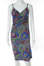 Etro Multi-Color Floral Print Sleeveless One Shoulder Dress Size Medium