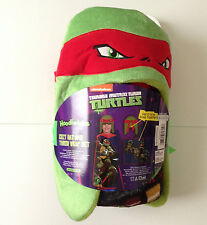 "NEW Teenage Mutant Ninja Turtles TMNT Hat Wrap blanket 40""x50"" Raphael"
