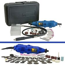 Variable Speed Rotary Tool Kit Grinder Flex Shaft Case 80Pc  Accessories