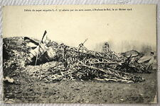 """CPA """" Débris du Super ZEPPELIN L Z 77 à BRABANT LE ROI le 21/02/1916"""
