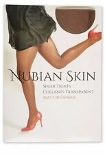 . Nubian Skin Sheer Tights Matt 10 Denier Caffe Au Lait Medium