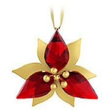 Swarovski Crystal-Poinsettia Ornament-Gold---Brand New & Boxed-Retired