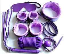 Purple SM Slave Passion Sex Bondage Kit Set Bed Restraint for Couple Lover Adult
