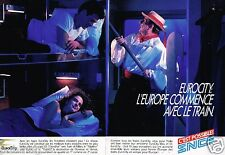 Publicité Advertising 1987 (2 pages) train SNCF EuroCity