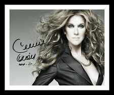 CELINE DION AUTOGRAPHED SIGNED & FRAMED PP POSTER PHOTO