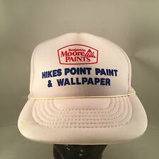 Hikes Point Paint and Wallpaper Rope Front White Trucker Style Mesh Snapback Hat