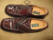 Italian Fratelli Vanni Red Burgundy Leather Fine Dress Shoes USA 10 EU 43