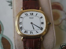 Nice Vintage SEIKO 7800 TV Screen Gold Tone Men's Dress Watch w/Roman Dial