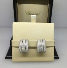 CHOPARD LA STRADA WHITE GOLD PAVE DIAMOND EARRINGS 84/4398-41 NEW!!!