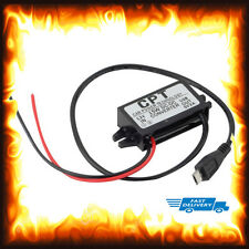 12v To 5v DC 3 Amp 3A Current Voltage Reducer Lorry Truck Boat Car Micro USB