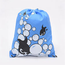 Girls Boys Drawstring Swim Sportswear Shoe Dance Bags Schoolbags Backpack Gym F
