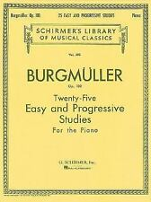 Twenty-Five Easy and Progressive Studies for the Piano Opus 100 Complete by...