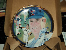 "1993 Nolan Ryan The Strikeout Express Hamilton Collection 6"" in Plate Orig Box"