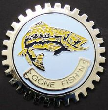 CAR GRILLE EMBLEM BADGES - LEAPING TROUT/GONE FISH'N