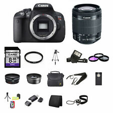 Canon EOS Rebel T5i SLR Camera w/18-55mm Lens 8GB Best Value Kit