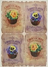 Rice Paper for Decoupage Decopatch Scrapbook Craft Sheet Chocolate Cupcakes