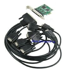 PCI-Express to 8 Ports DB9 Serial RS232 RS-232 COM Adapter Card 16c1058 chip