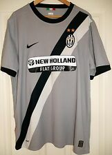 VINTAGE JUVENTUS AWAY FOOTBALL SHIRT 09-10 MENS XL NIKE RARE GREY