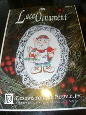 COUNTED CROSS STITCH KIT CHRISTMAS TREE LACE ORNAMENT HOLIDAY ELF GNOME ELVES