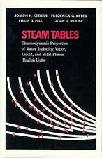 Steam Tables : Thermodynamic Properties of Water Including Vapor, Liquid, and...