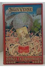 Jules Verne - L'Ile à Hélice. Collection Hetzel, reliure Lenègre, cartonnage au