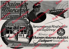 ORIG publicité Daimer-MOTEURS AVIATION pilote avion Mercedes sous türkheim 1917