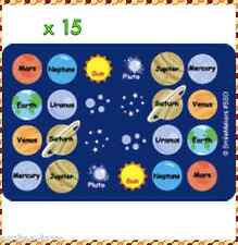 Solar System Stickers x 15 Sheets Bulk - Teacher Space Units - Education - Fun
