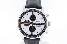 Men's Mido Multifort Automatic Chronograph M0056141603101 Black / Silver Watch