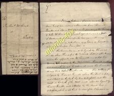 1754 DURHAM letter Christopher Johnson to Reverend Lloyd at RYTON