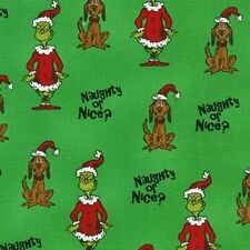 Kaufman How the Grinch Stole Christmas 6 ADE 15784 7 Green BTY Cotton Fab