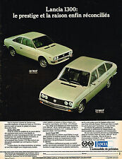 PUBLICITE ADVERTISING 124  1977  LANCIA   1300 BETA &  BERLINE COUPE