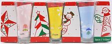 Parka Christmas Holiday Tall Party Shot Glass Set of 3 Angels Snowman New
