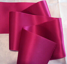 """4"""" WIDE SWISS DOUBLE FACE SATIN RIBBON- BEAUTY - HOT PINK"""