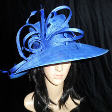 SNOXELL GWYTHER  ROYAL BLUE WEDDING HAT OCCASION FORMAL  MOTHER OF THE BRIDE